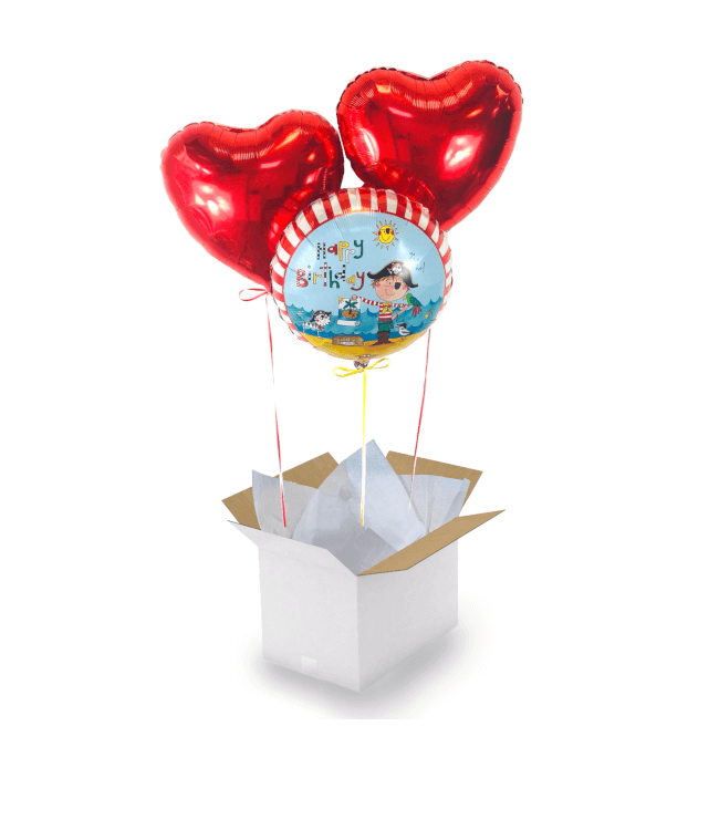 Image 1 Bouquet Pirate Birthday Coeur Rouge
