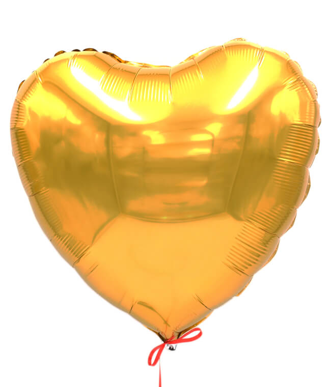 Image 1 Ballon Coeur Or