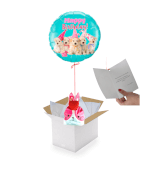 Vignette 1 Ballon Happy Birthday Chiots+ballotin Big fraise Tagada