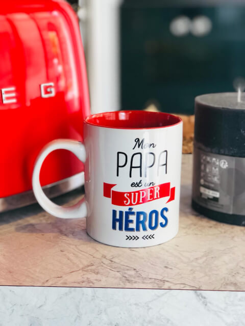 Image Mug Papa Super Hero