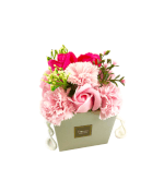 Vignette 3 Ballon Happy Rose+Bouquet de roses de savon