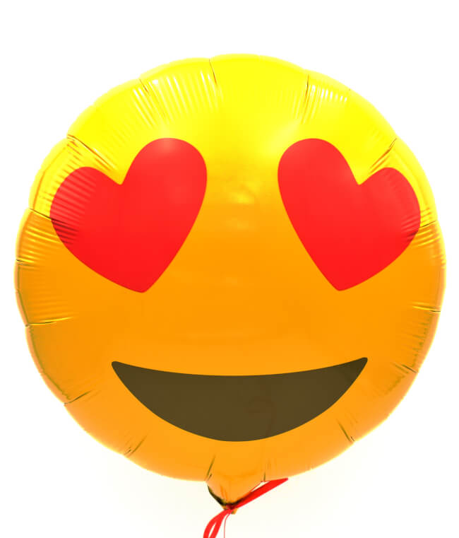 Image 2 Smiley Love Balloon