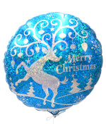 Vignette 3 Merry Christmas balloon